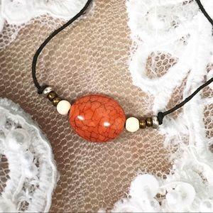 BOGO💫 Crackled Carnelian Stone Choker